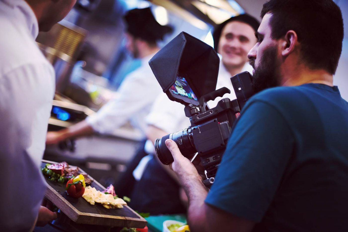 commercial videography team shoots video in St. Petersburg
